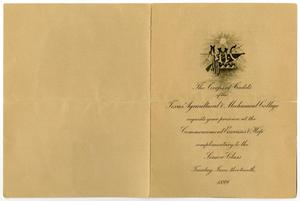 Primary view of object titled '[Announcement of Commencement for Texas Agricultural and Mechanical College, June 13, 1899]'.