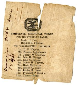 Primary view of [Democratic Electoral Ticket, 1844]