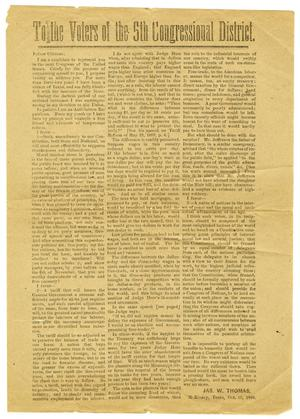 Primary view of [Editorial, October 18, 1888]