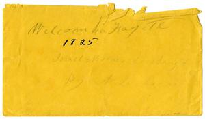 Primary view of [Envelope, 1825]
