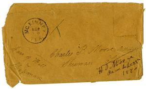 Primary view of object titled '[Envelope, September 15, 1840]'.