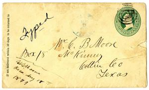 Primary view of object titled '[Envelope to C. B. Moore]'.