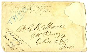 Primary view of [Envelope addressed to C. B. Moore]