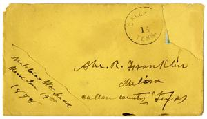 Primary view of [Envelope addressed to Abe Franklin]