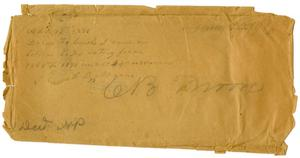 Primary view of [Envelope for C. B. Moore]