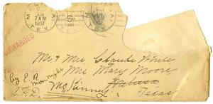 Primary view of [Envelope addressed to Mr. and Mrs. White]