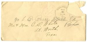 Primary view of object titled '[Envelope to Claude D. White]'.