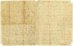 Primary view of object titled '[Letter from Charles B. Moore to Henry S. Moore, November 18, 1857]'.