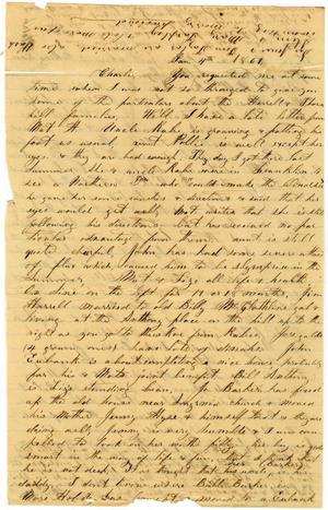 Primary view of [Letter from Elvira Moore to Charles B. Moore, January 4, 1861]