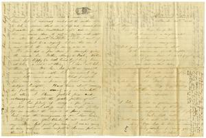 Primary view of [Letter from J. S. Nimmo to Charles B. Moore, March 31, 1861]
