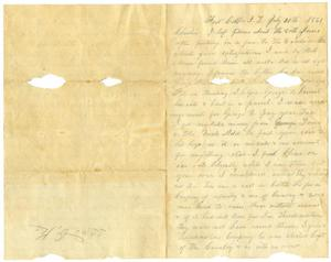Primary view of object titled '[Letter from Henry S. Moore to Charles B. Moore, July 20, 1861]'.