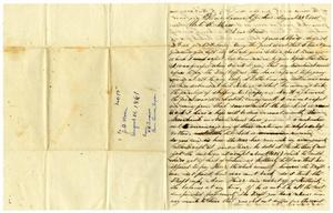 Primary view of object titled '[Letter from W. H. Timmins to Charles B. Moore, August 25, 1861]'.