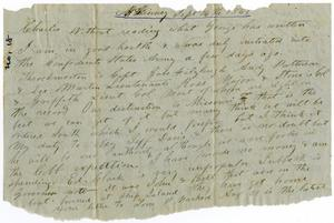 Primary view of object titled '[Letter from Henry S. Moore to Charles B. Moore, September 16, 1861]'.