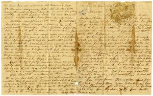 Primary view of object titled '[Letter from Ziza Moore to Charles B. Moore, September and October 1861]'.