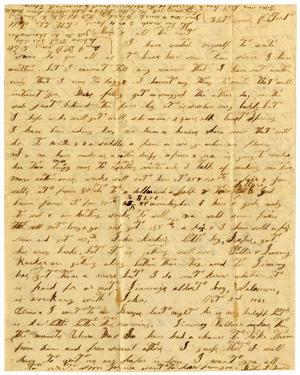 Primary view of [Letter from Bettie J. Moore and Family to Mariah Rucker and Family, October 1861]