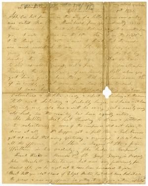 Primary view of object titled '[Letter from Elvira Moore to Josephus Moore, December 1861]'.