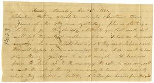 Primary view of [Letter from Elvira Moore to Charles B. Moore, December 26, 1861]