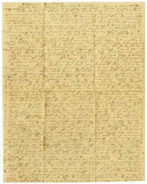 Primary view of object titled '[Letter from Elvira and Bettie J. Moore to Charles B. Moore and Sabina and Maria Rucker, February 8, 1862]'.