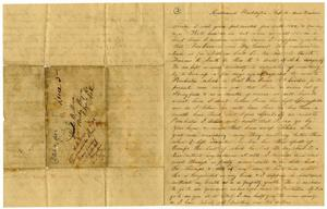 Primary view of [Letter from Henry S. Moore to Charles B. Moore, February 1862]