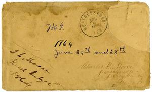 Primary view of object titled '[Envelope from Josephus Moore addressed to Charles Moore, July 9, 1864]'.