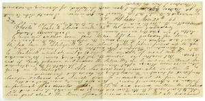Primary view of object titled '[Letter from Josephus Moore to Charles Moore, November 20, 1864]'.