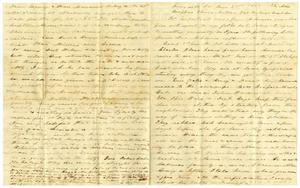 Primary view of object titled '[Letter from Charles Moore to Elvira, Josephus, Matilda, and Ziza Moore, January 21, 1865]'.