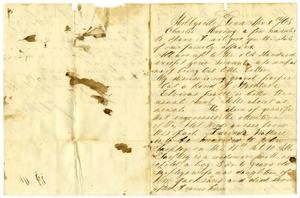 Primary view of object titled '[Letter from Josephus Moore to Charles Moore, April 8, 1865]'.