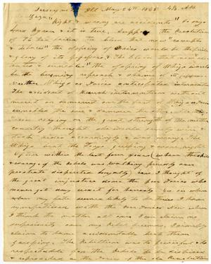 Primary view of object titled '[Letter from Charles Moore to Ziza Moore, May 24, 1865]'.