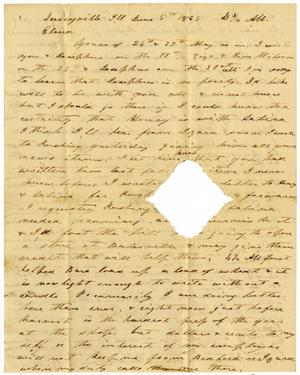 Primary view of object titled '[Letter from Charles Moore to Elvira Moore, June 5, 1865]'.
