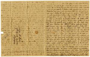 Primary view of object titled '[Letter from Henry Moore to Charles Moore, August 16, 1865]'.