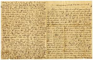 Primary view of object titled '[Letter from Julia Rucker and Henry Moore to Charles Moore, November 13, 1865]'.