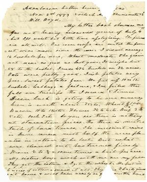 Primary view of [Letter from Charles B. Moore to Will Boyd, November 3, 1873]