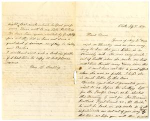 Primary view of [Letter from Mrs. C. Snelling]