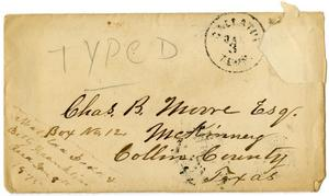 Primary view of [Envelope from Matilda Boder and Bettie Franklin]