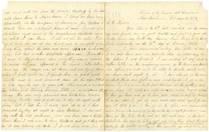 Primary view of object titled '[Letter from Travis Winham, February 16, 1875]'.