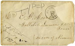 Primary view of object titled '[Envelope, 1875]'.