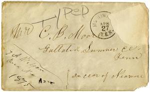 Primary view of [Envelope, 1875]