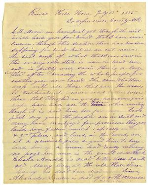 Primary view of [Letter from Enoch D. Rushing to Charles B. Moore, July 15, 1875]