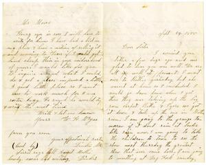 Primary view of [Letter from Dinkie to Her Sister, September 24, 1875]