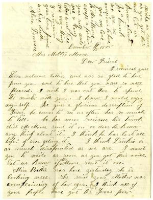 Primary view of [Letter from Alice Donnell to Mollie Moore, December 18, 1875]