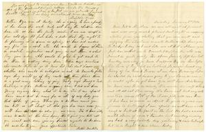Primary view of [Letter from Matilda Dodd and Bettie Franklin to Mary Moore, January 2, 1876]