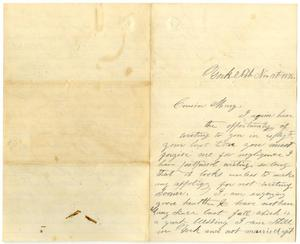 Primary view of object titled '[Letter from George Bratney to Mary Ann Dodd Moore, November 19, 1876]'.