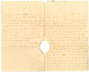 Primary view of object titled '[Letter from Bettie Franklin and William Dodd, December 10, 1876]'.