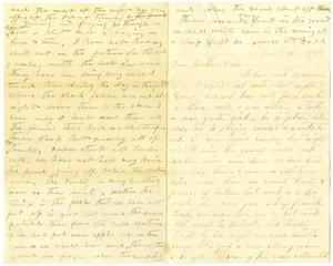 Primary view of object titled '[Letter from William Dodd and Bettie Franklin to Mary Moore and Matilda Dodd, January 15, 1877]'.
