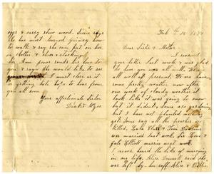 Primary view of [Letter from Dinkie McGee to Mary Ann Dodd Moore and Matilda Brantley Dodd, February 18, 1877]