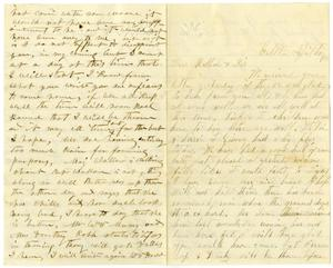Primary view of [Letter from William Dodd to his Mother and Sister, April 29, 1877]