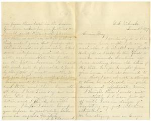 Primary view of [Letter from S. E. Leonard  to Mary, June 3, 1877]