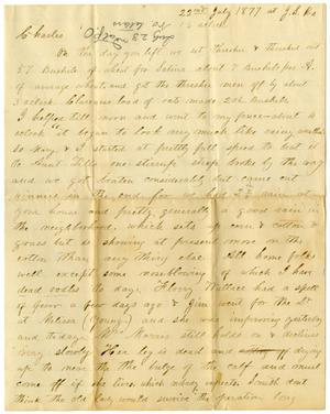 Primary view of [Letter from H. S. Moore, July 22, 1877]