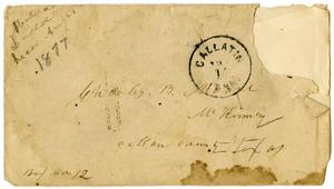 Primary view of object titled '[Envelope Addressed to Charles B. Moore, 1877]'.