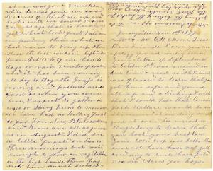 Primary view of [Letter from John C. Barr to Charles Moore, November 1, 1877]
